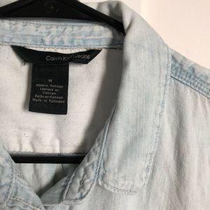 Calvin Klein Tops - Denim Button Down